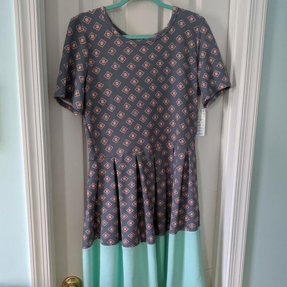 LuLaRoe Dresses & Skirts - Amelia dress by LuLaRoe NWT SZ XL